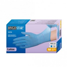 Latex Blue  Disposable gloves Hygostar