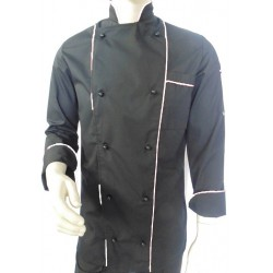 chef jacket black