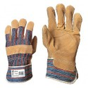 Leather-Cotton Gloves