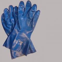 Nitrile gloves for chemical enviroments
