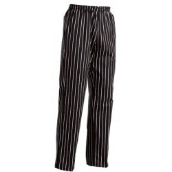 striped chef trousers