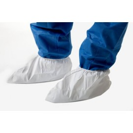 One use plastic disposable socks (WHITE - WHITE)