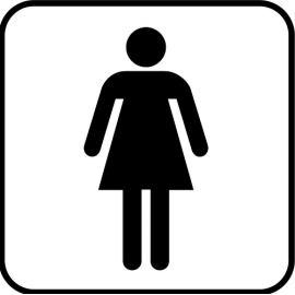 Sympol Plate INOX sticker WC Women